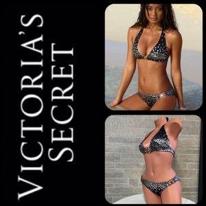 Victoria's Secret🔥HOT Black Silver Star Swimsuit